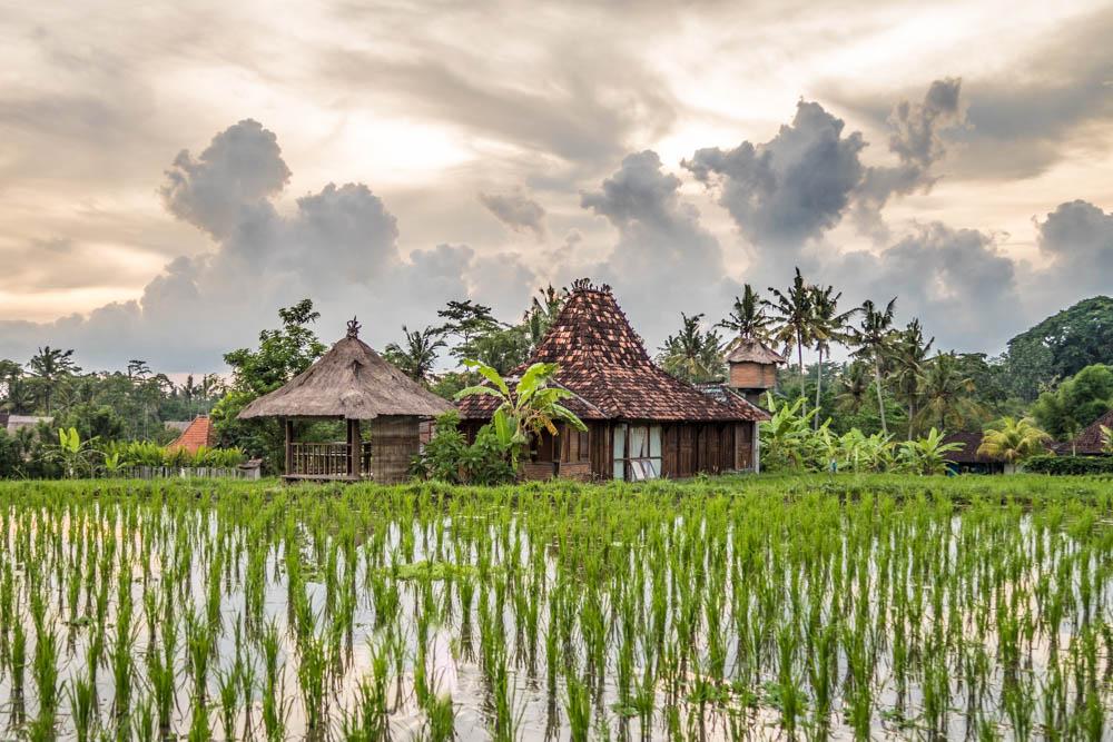 Eine typische kleine Villa in Ubud