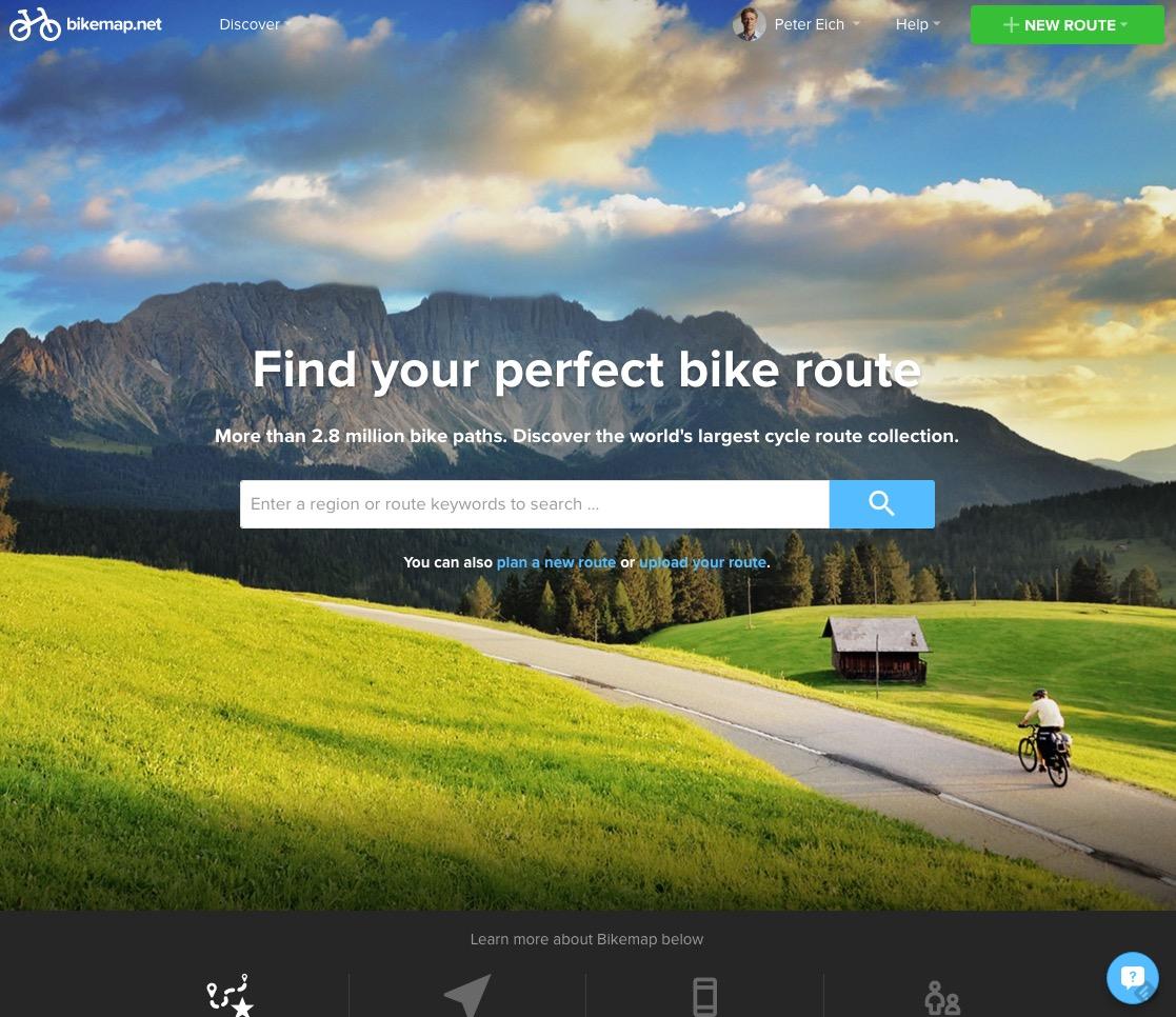 Bikemap V3, online seit Abril 2016