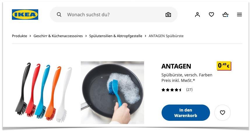 Spülbürste bei Ikea